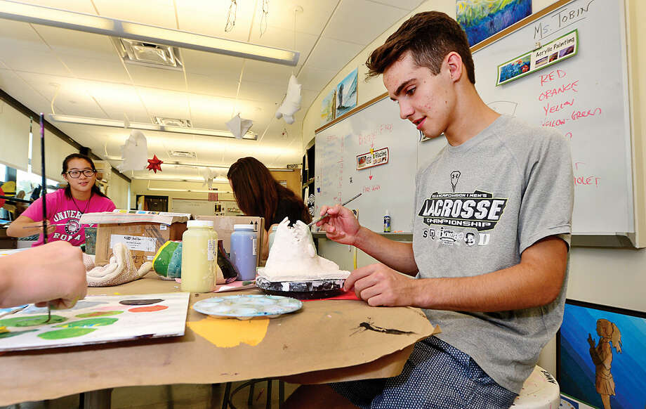 Luke Nascimento is taking classes to get a jump-start on his fall studies at the Summer Institute at King Low Heywood Thomas School in Stamford.
