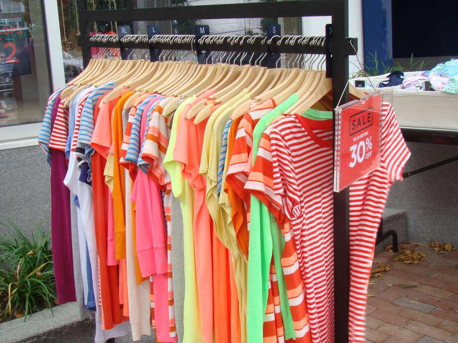 Bargains up and downMain Street in Westport July 10 - 12