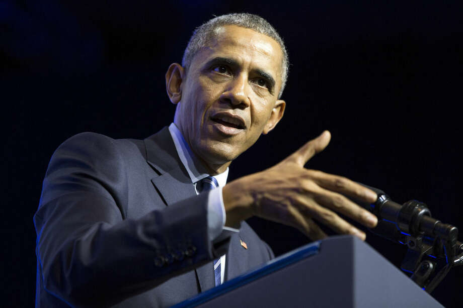 President Barack Obama speaks at the NAACP's 106th national convention at the Philadelphia Convention Center, on Tuesday, July 14, 2015, in Philadelphia. (AP Photo/Evan Vucci)