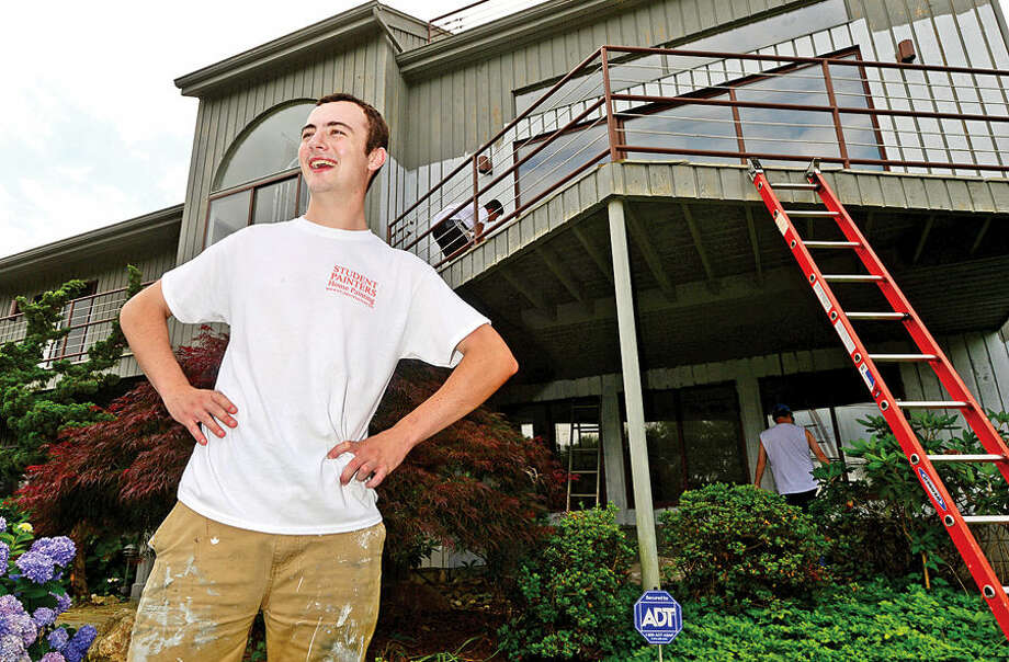 Hour photo / Erik Trautmann Former Norwalk High School student William Hessert runs a team for Student Painters, an exterior house painting company sponsored by Sherwin Williams that trains young entrepreneurs and gives them real world experience.