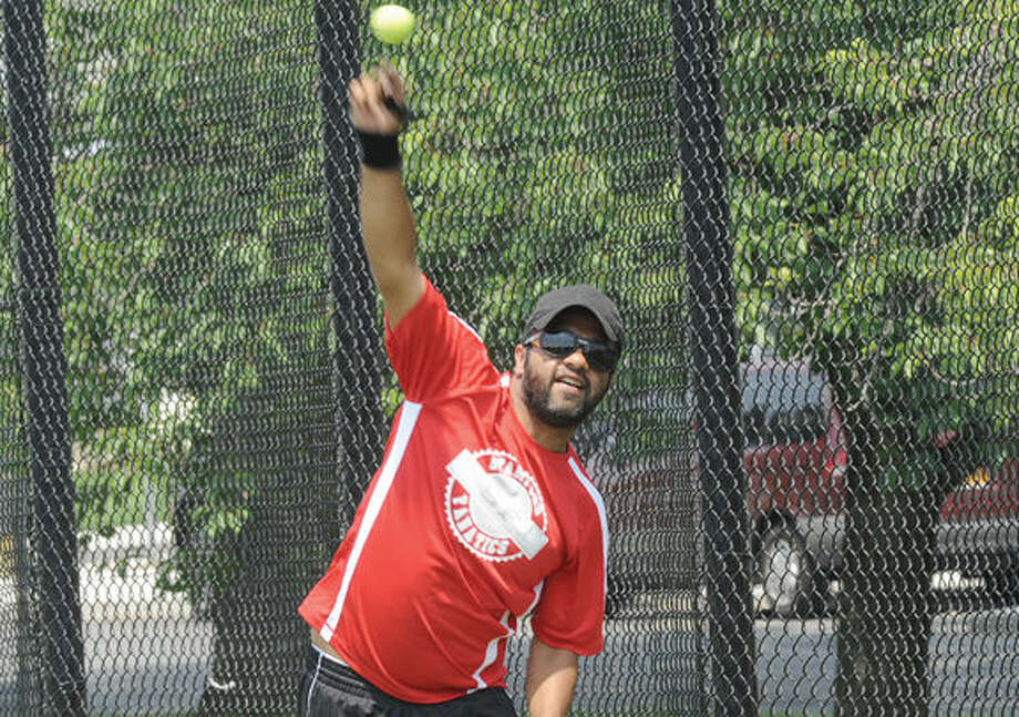 Navin Thomas member of the Stamford Cricket Club at the fundraiser game held at Stamford's Lione Park that raised over $13000.00 for Americares for the thier most recent work in Nepal. Hour photo/Matthew Vinci