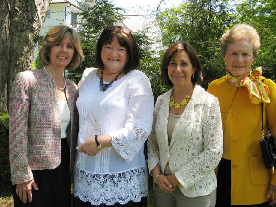 Dr. Sharon Sobel of Wilton (second from left) received the Carol B. Bauer Community Spirit Award for her outstanding volunteer work at the Turnover Shop of Wilton. She is pictured here with Sharon Bradley, President and CEO of Visiting Nurse & Hospice of Fairfield County, Laurie Petrasanta, Volunteer Coordinator, and Carol Bauer of Wilton, for whom the award was named.