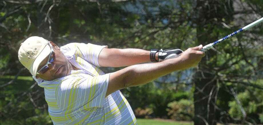 Hour Photo/Alex von Kleydorff Dr. Devang Patel during the Greater Norwalk Chamber of Commerce Golf Classic at Shorehaven Country Club on Monday