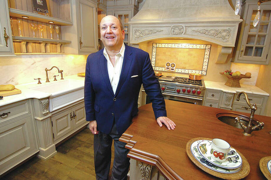 Klaff's COO Joe Passero in one of his designer kitchens at the Klaff's location in South Norwalk. / 2013 The Hour Newspapers