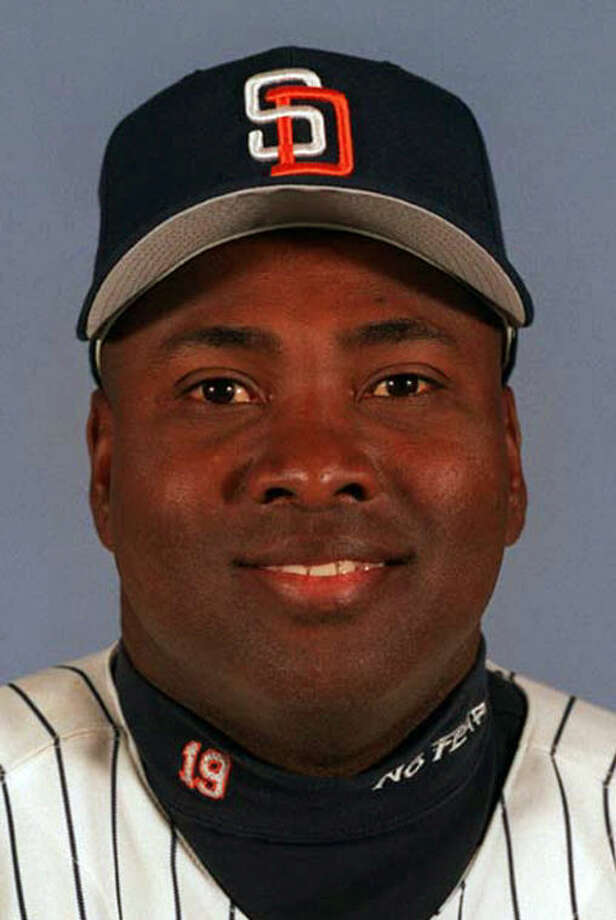 FILE - This 1999 file photo shows San Diego Padres' Tony Gwynn. The Baseball Hall of Fame says Gwynn died of cancer on Monday, June 16, 2014. He was 54. (AP Photo/File)