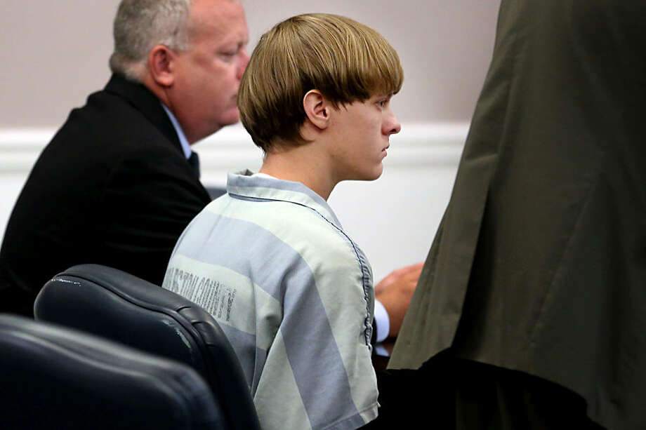 Dylann Roof appears at a court hearing in Charleston, S.C., on Thursday, July 16, 2015. A judge ruled Thursday that Roof, accused of killing nine people at the Emanuel AME Church in Charleston in June, will stand trial in July, 2016. (Grace Beahm/The Post and Courier via AP, Pool)