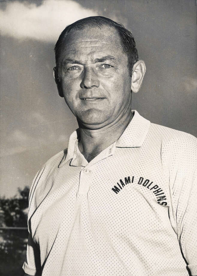 "FILE - In this 1970 photo, Miami Dolphis assistant coach Bill Anrsparger poses for a photo, location not known. Arnsparger, the Miami assistant coach who directed the ""No-Name Defense"" that helped the Dolphins win Super Bowl titles in 1973 and 1974, died Friday, July 17, 2015. He was 88. The Dolphins confirmed Arnsparger's death. The team didn't provide a cause of death. (AP Photo/File)"