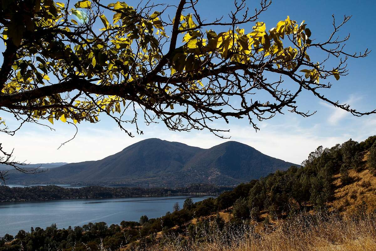 Mount Konocti and Clear Lake as seen from Clearlake Oaks, Calif., Monday, October 26, 2015.