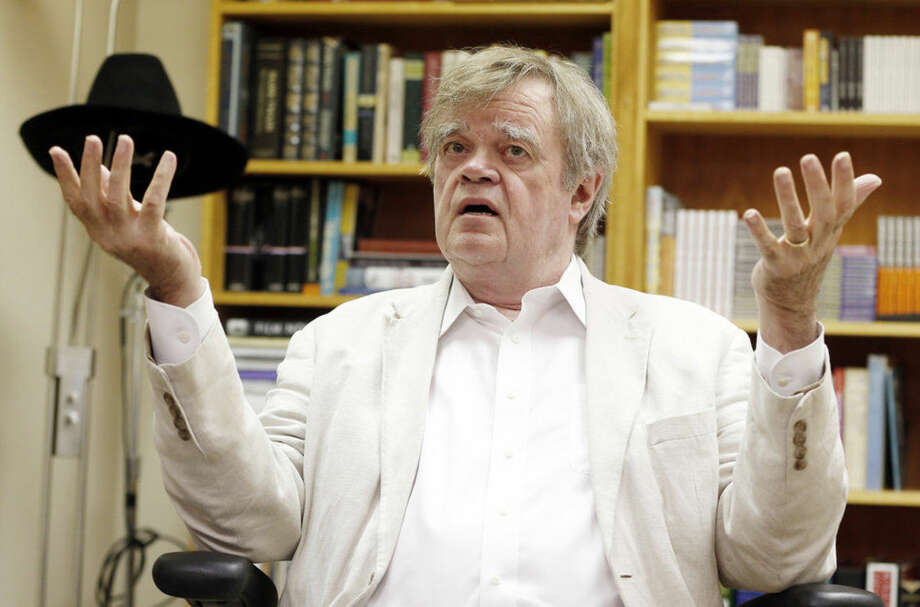 """Garrison Keillor, creator and host of """"A Prairie Home Companion,"""" said in an interview with The Associated Press, Monday, July 20, 2015, in St. Paul, Minn., that he plans to step down after next season and retire such popular sketches as """"Guy Noir, Private Eye."""" (AP Photo/Jim Mone)"""