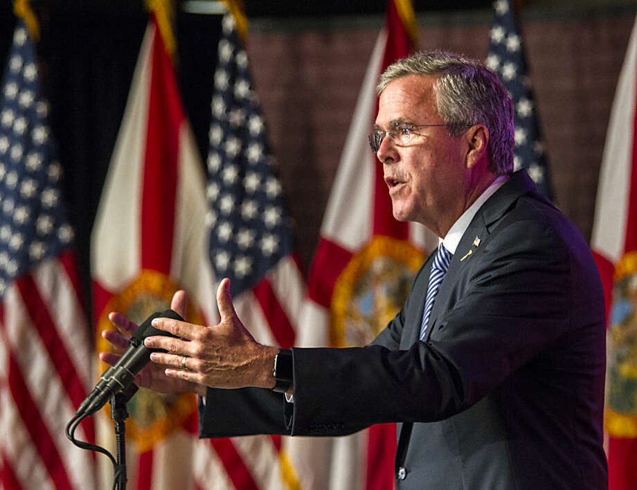 Republican presidential candidate, former Florida Gov. Jeb Bush, speaks at the Florida State University Conference Center in Tallahassee, Fla., Monday, July 20, 2015. (AP Photo/Mark Wallheiser)