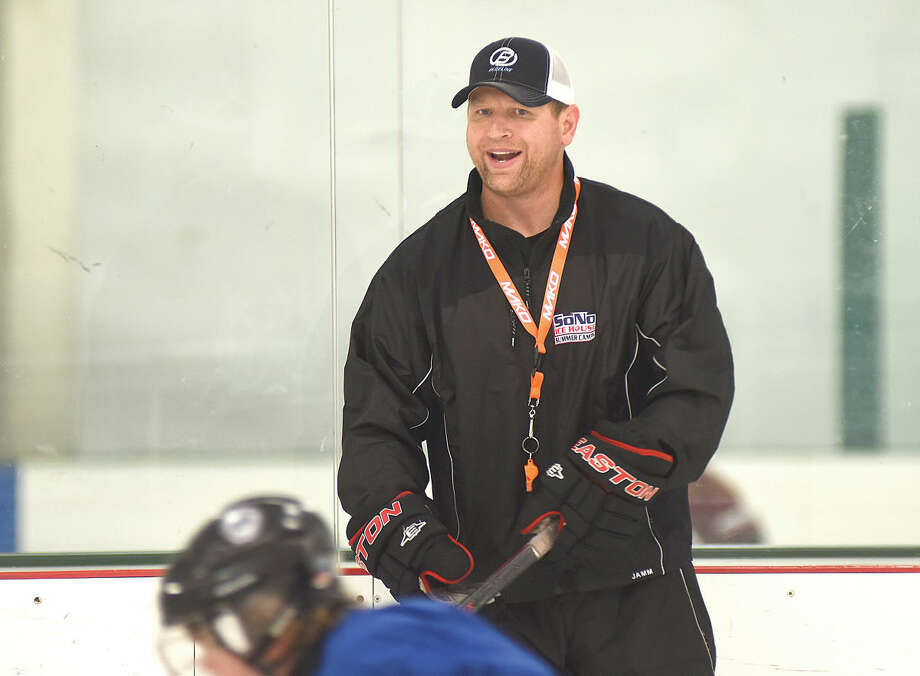 Hour photo/John Nash - Former Trinity Catholic and Darien High hockey coach Chris Gerwig has been hired by the Connecticut Oilers junior hockey organization.