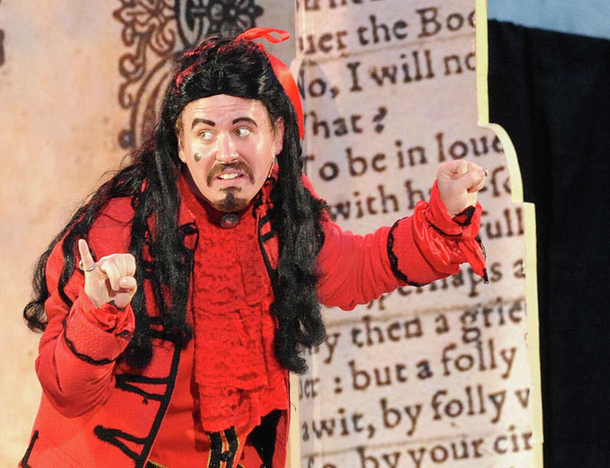Scott Watson as Thurid in a performance of William Shakespeare's comedy The Two Gentlmen of Verona at Rowayton's Pinkey Park on Tuesday. Hour photo/Matthew Vinci