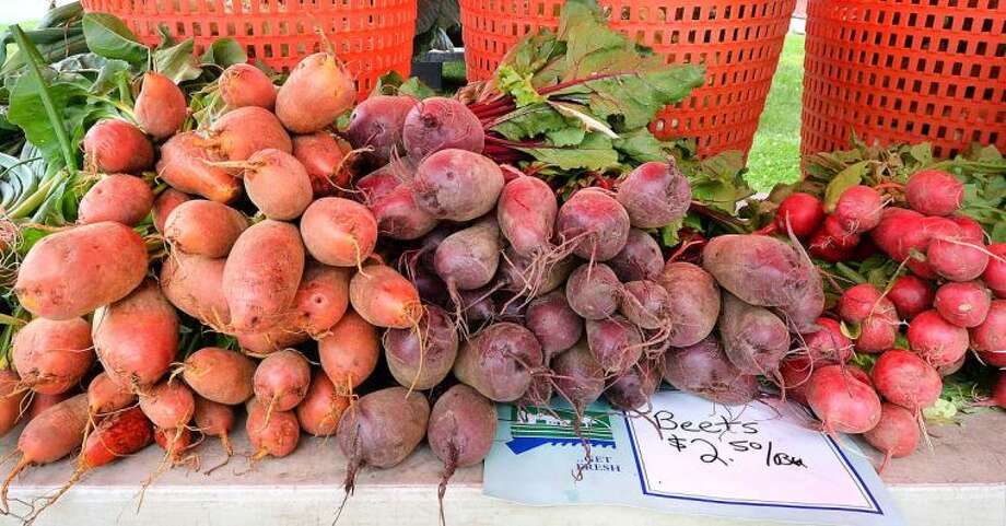 Beets of all kinds from Gazy Brothers Farm at Wilton Farmers Market.