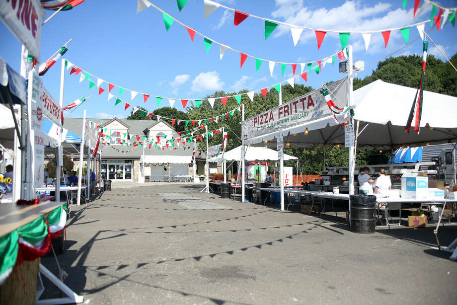 The scene before the annual St. Ann Festival in Norwalk Friday afternoon. Hour Photo / Danielle Calloway