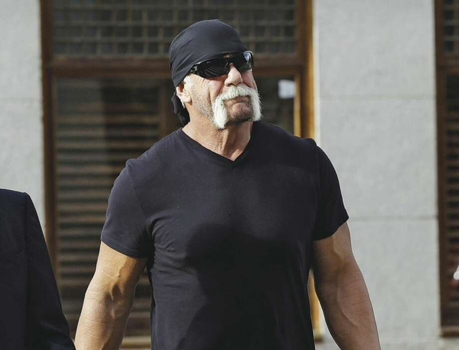 """AP photoIn this Oct. 15, 2012 file photo, former professional wrestler Hulk Hogan, whose real name is Terry Bollea, arrives for a news conference at the U.S. Courthouse in Tampa, Fla. World Wrestling Entertainment Inc. has severed ties with Hogan. The company did not give a reason, but issued a statement Friday saying it is """"committed to embracing and celebrating individuals from all backgrounds as demonstrated by the diversity of our employees, performers and fans worldwide."""""""