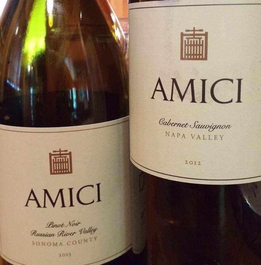 Amici Cabernet Sauvignon and Pinot Noir.