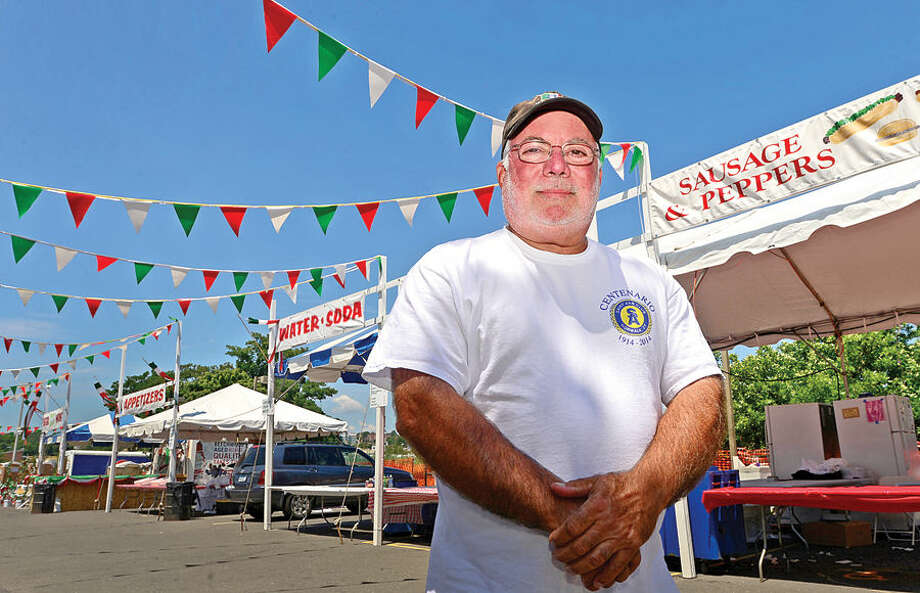 Hour photo / Erik Trautmann St. Ann's Feast Chairman Pat Cutrone has been running the feast for more than 5 years.