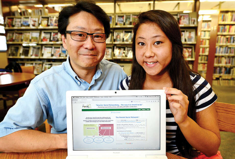 "Wilton High School senior Julianna Yee and her father, Bill Yee, have created a new ""parent-friendly"" social networking site named ""The Portalz."""