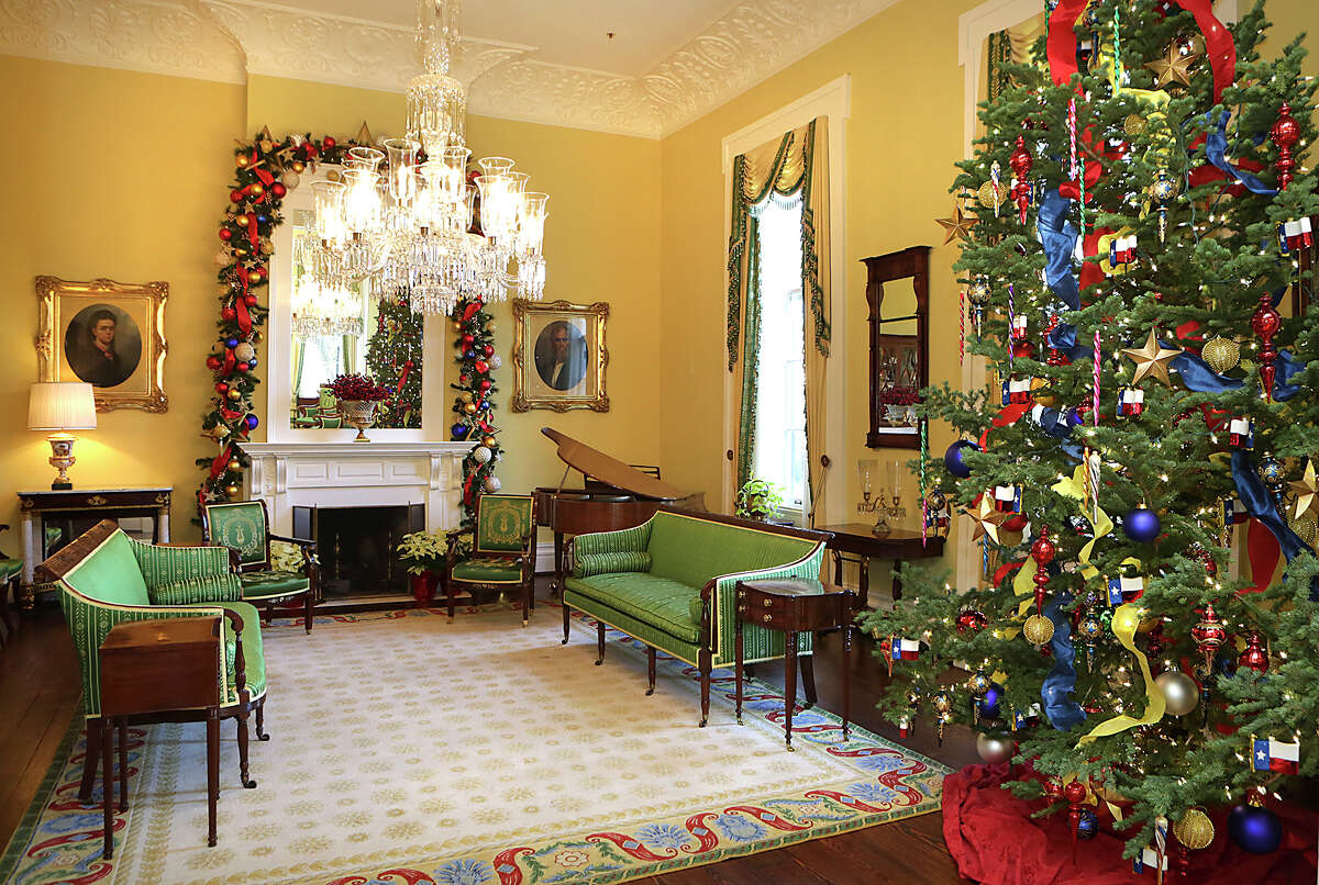 The Christmas Tree is in the Large Parlor of The Texas Governor's Mansion in Austin, on Thursday, December 3, 2015.