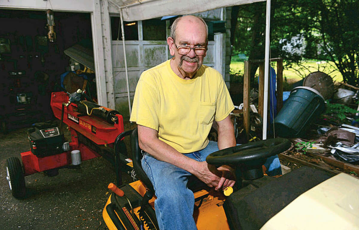 Hour photo / Erik Trautmann Wilton schools maintenance worker Fred Collins retires after 43 years.
