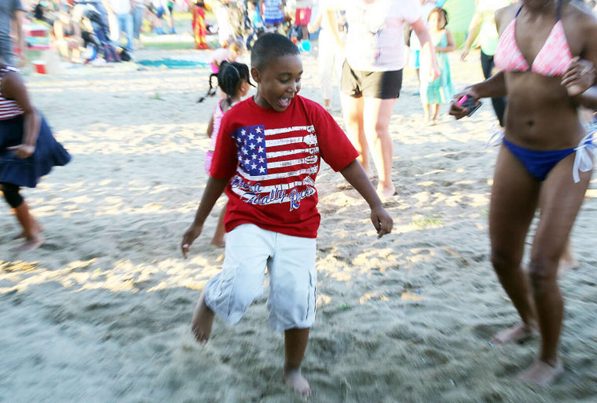Allen Fountain, 6, dances to