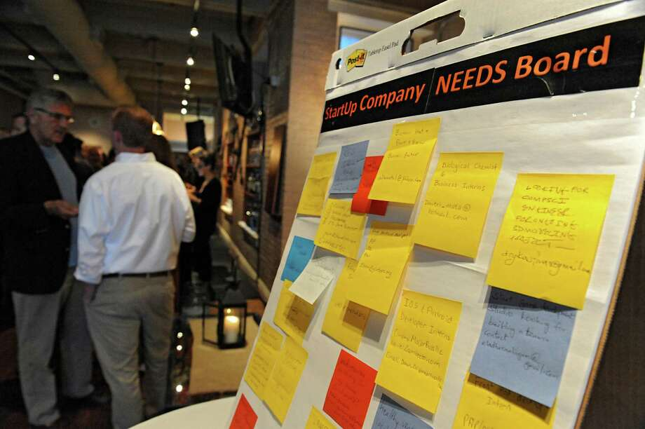 A start up company needs board is seen at a Start Up Tech Valley event where companies pitch new businesses at Revolution Hall on Wednesday, June 1, 2016 in Troy, N.Y. (Lori Van Buren / Times Union) Photo: Lori Van Buren / 20036804A