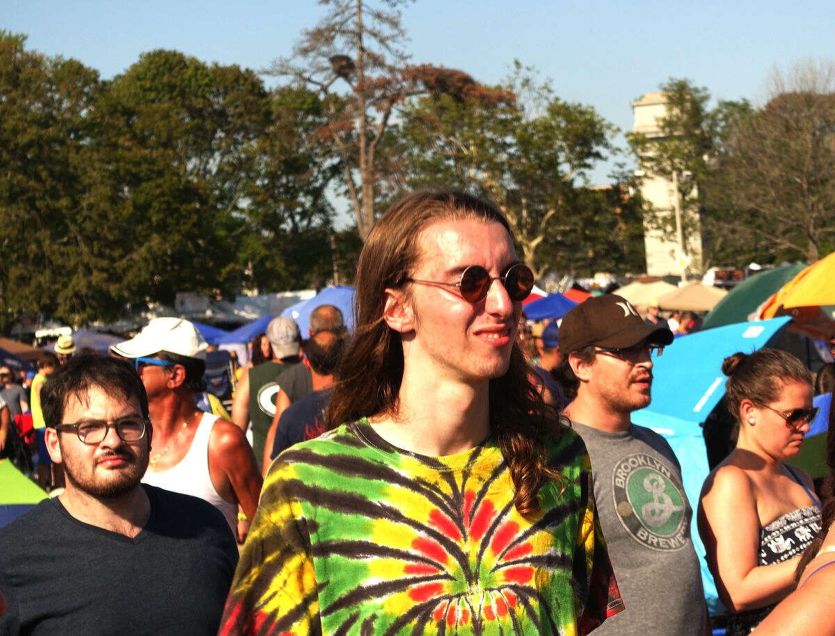 Festival goers enjoy the 20th annual Gathering of the Vibes in its last day, Sunday, at Seaside Park in Bridgeport.