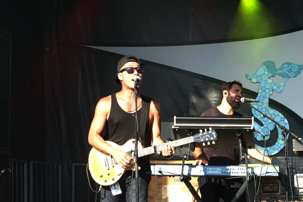Boston-based reggae band John Brown's Body plays on the Green Vibes Stage at the 20th annual Gathering of the Vibes at Seaside Park in Bridgeport Sunday.