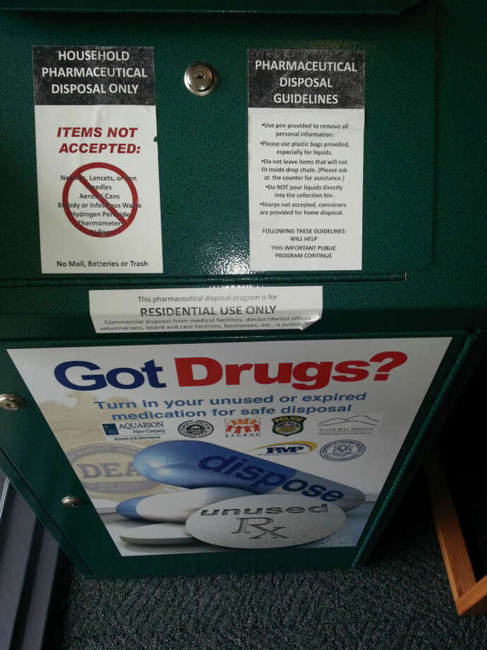 Residents who wish to rid their home of old, unused and expired prescription drugs can drop off those medications at the Wilton Police Department.