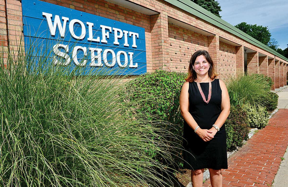 Hour photo / Erik Trautmann Dr. Jenna Masone, the new principal of Wolfpit Elementary School.