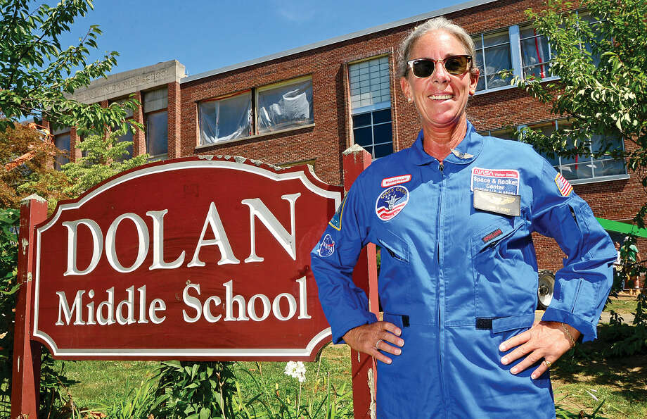 Laura Dickey, who teaches at Dolan Middle School, just returned from space camp, where she tackled real-life astronaut training to help inspire students to pursue STEM (science, technology, engineering, and math) careers.