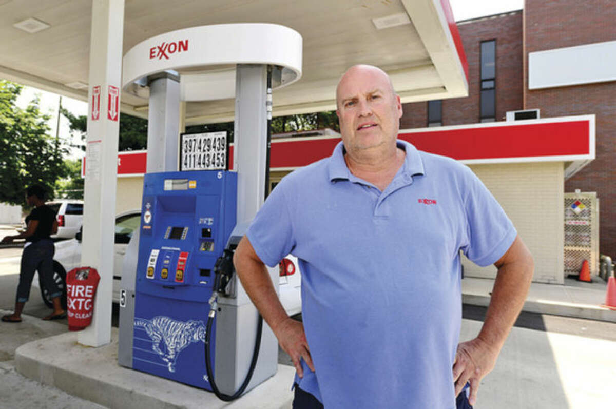 Hour photo / Erik Trautmann Dave Lewis has owned the gas station at 452 Westport Ave in Norwalk for 28 years and is complainig that the city is unfairly targeting gas stations with property tax increases.