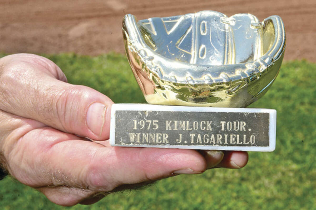 Hour photo / Erik Trautmann Jim Tagariello played in the first Kinlock baseball tournament and was a 10 years old and a member of the first Kinlock championship team in 1975.
