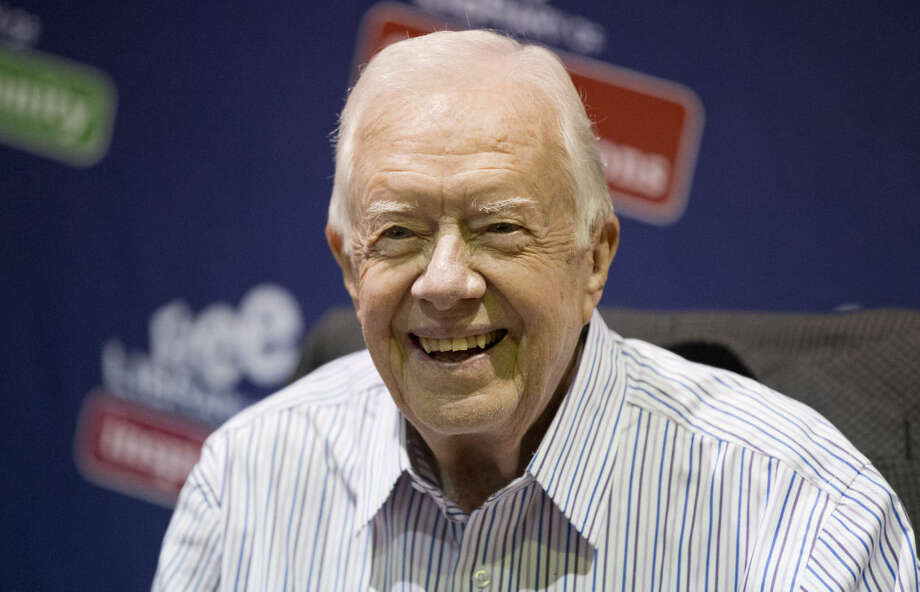 FILE - In this July 10, 2015, file photo, former President Jimmy Carter is seen in Philadelphia. Carter announced he has been diagnosed with cancer in a brief statement issued Wednesday. (AP Photo/Matt Rourke, File)