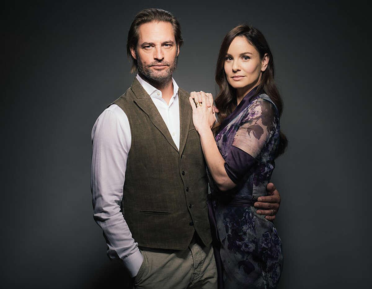 Josh Holloway, left, and Sarah Wayne Callies, cast members in USA Network's