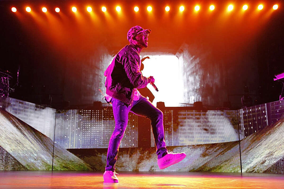 Chris Brown performs during his