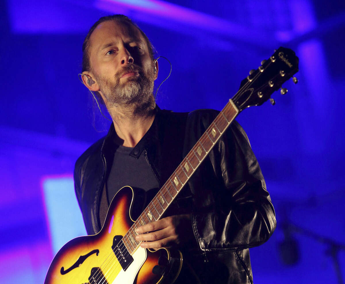 FILE - In this Oct. 6, 2013, file photo, Thom Yorke performs at the 2013 Austin City Limits Music Festival in Austin, Texas. Yorke is going Broadway, as he's written original music for the upcoming revival of the play