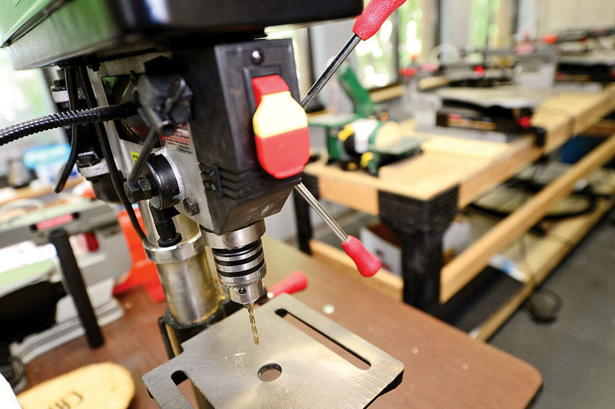 Hour photo / Erik Trautmann The High Road School on North Ave in Norwalk has a wood shop class. The School is an educational program serving the instructional and behavioral needs of adolescents in a supportive and structured environment.