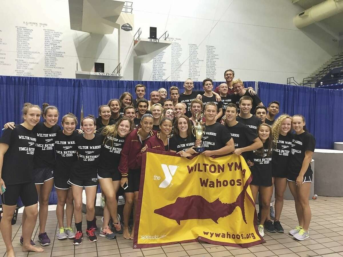 Wilton Y Wahoos' boys swimming wins a 4th straight national title