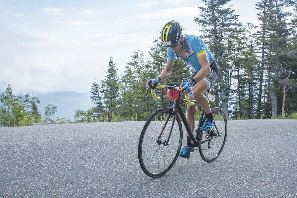 Dan Houde/Mt. Washington Auto Road Norwalk's Eneas Freyre won the 43rd Mt. Washington Auto Road Bicycle Hillclimb, climbing the 7.6 mile course is 53 minutes.