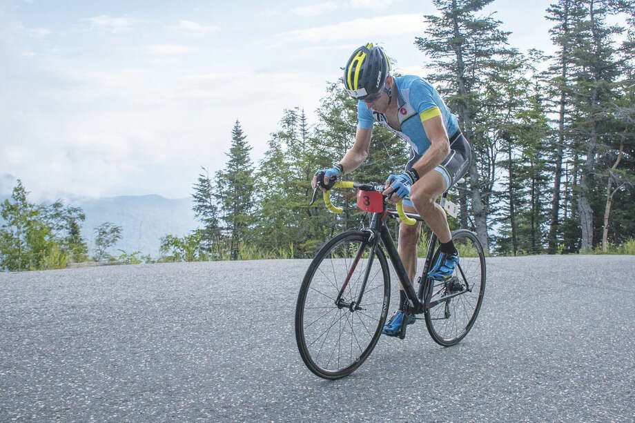 Dan Houde/Mt. Washington Auto RoadNorwalk's Eneas Freyre won the 43rd Mt. Washington Auto Road Bicycle Hillclimb, climbing the 7.6 mile course is 53 minutes.