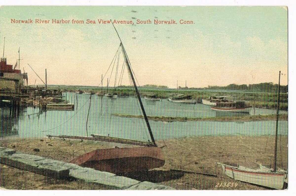 1929 -NORWALK RIVER HARBOR FROM SEA VIEW AVENUE, SO.NORWALK,CT
