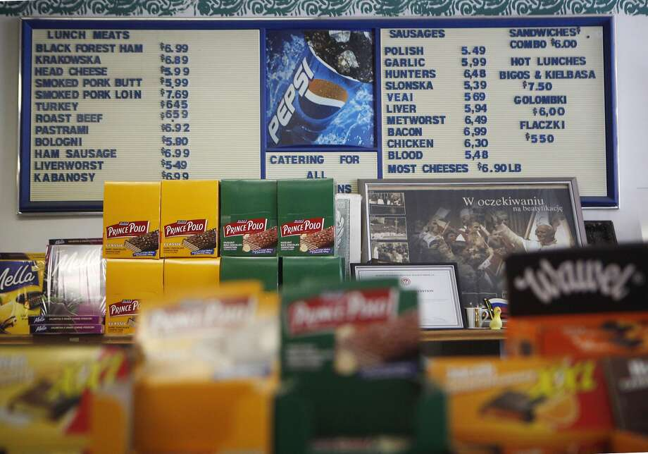 The menu at Seakor Polish Delicatessen in the Richmond District of S.F. Photo: Michael Noble Jr., The Chronicle