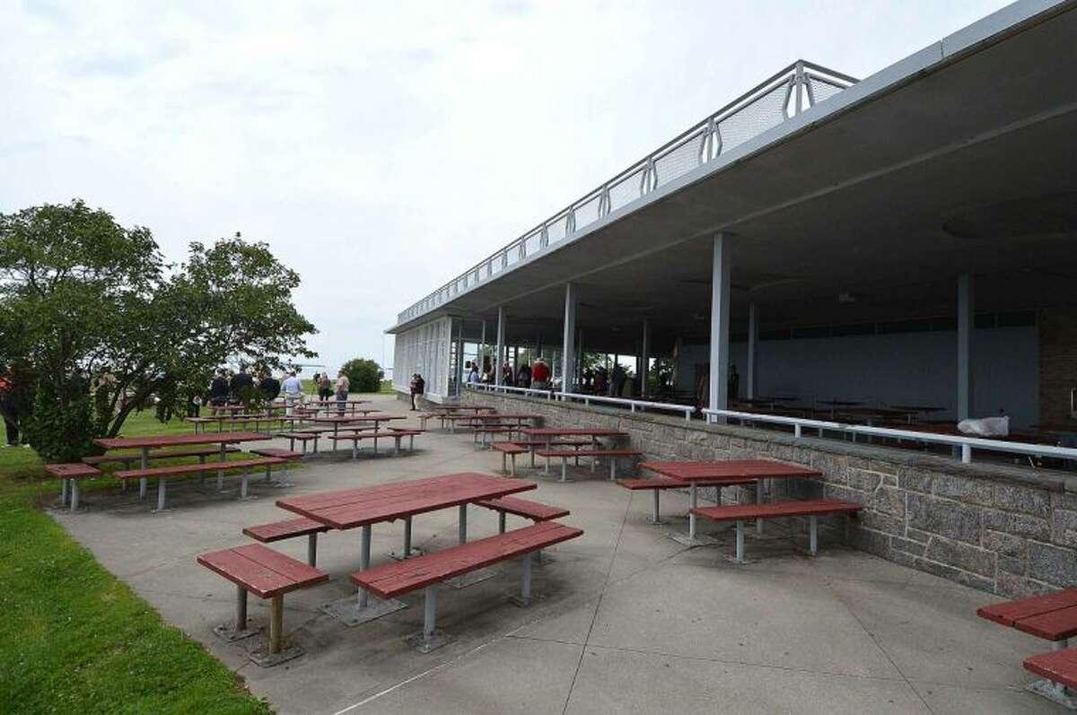 Hour Photo/Alex von Kleydorff The Pavilion at Sherwood Island State Park in Westport.