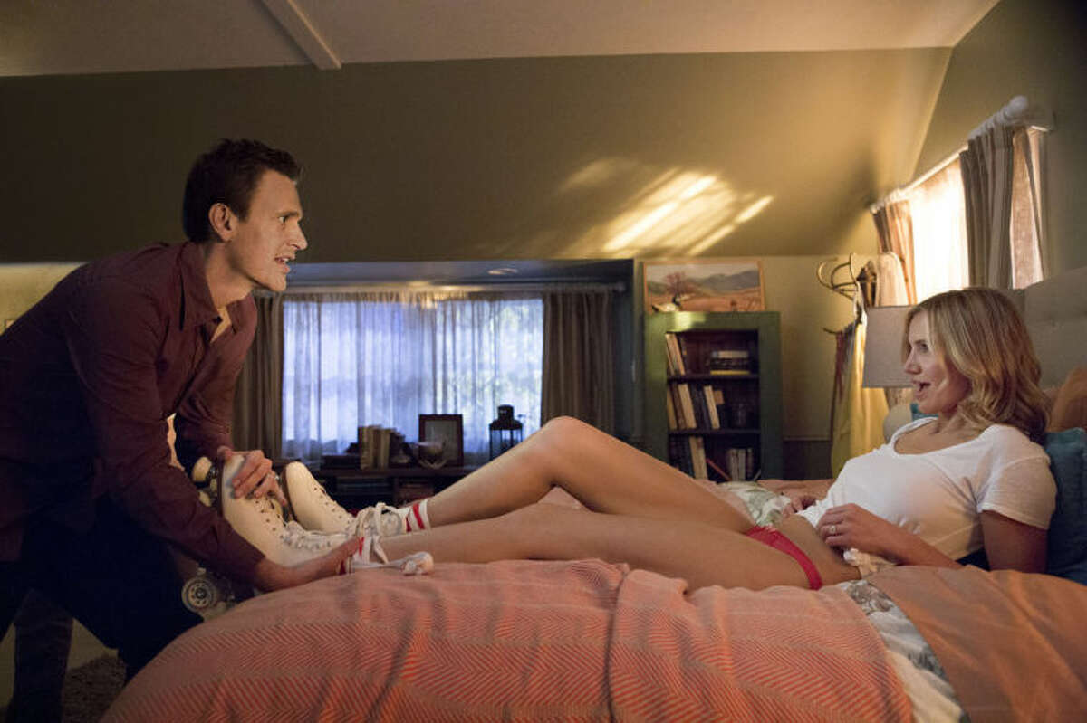 This image released by Sony Pictures shows Cameron Diaz, right, and Jason Segel in a scene from
