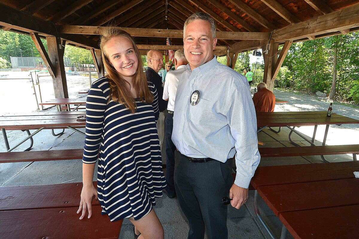 Wilton Kiwanis past president and Key Club liaison Jeff Turner and Claire McCullough, newly elected lieutenant governor of the New England District Division 31 Key Club.