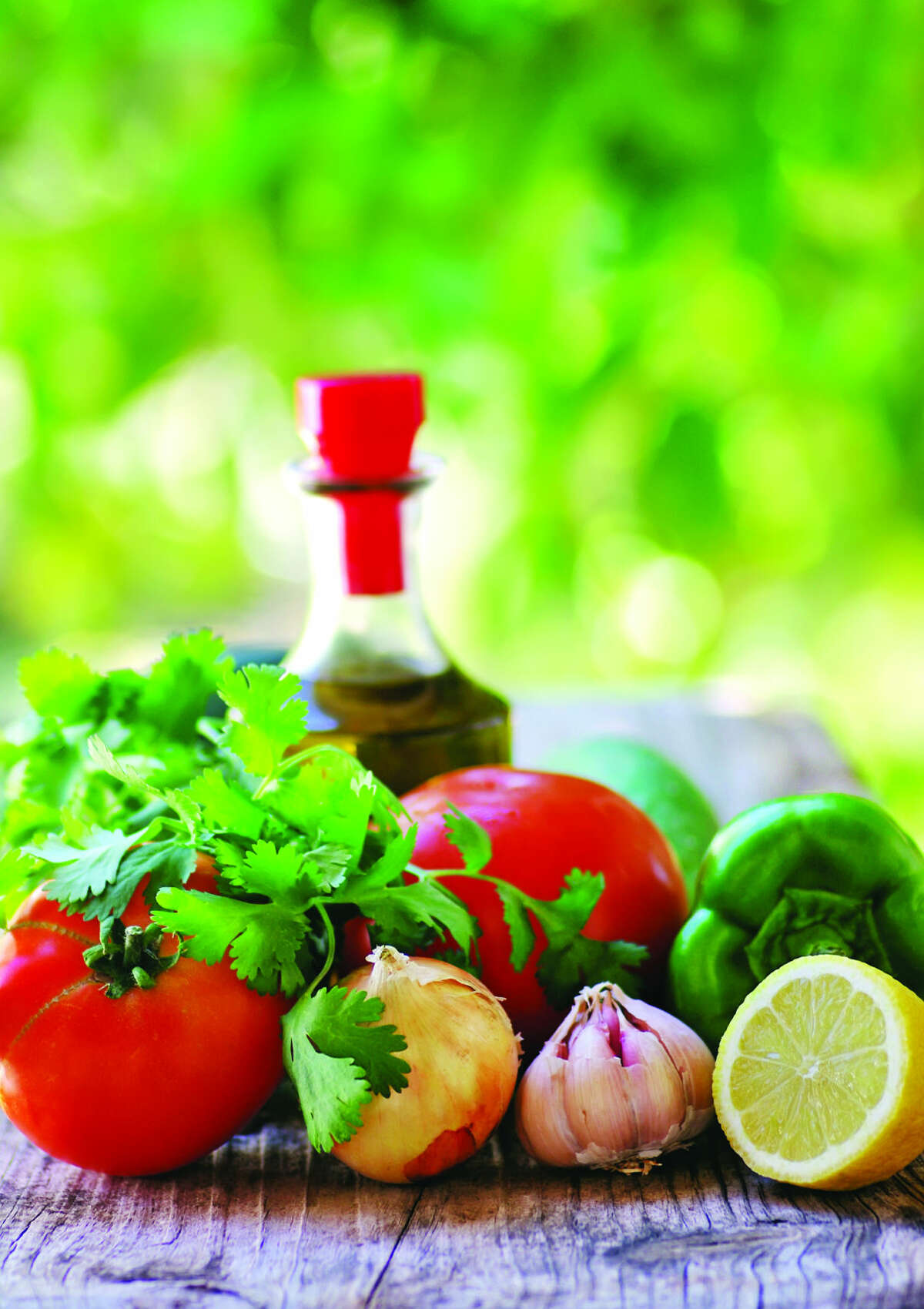 mediterranean herbs , tomatoes and olive oil