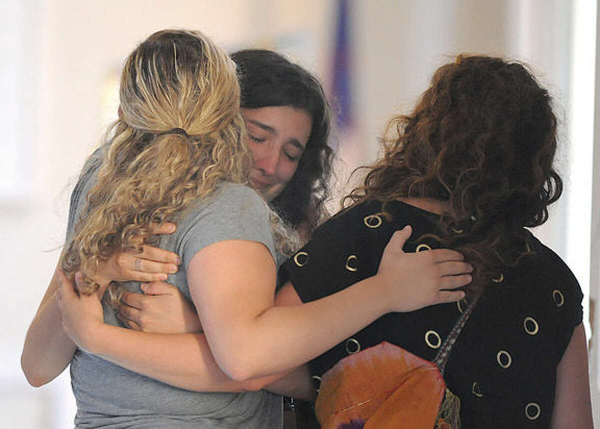 The vigil Monday at First Congregational Church in Norwalk for former Norwalkers, Ledell and Katherine Mulvaney, who were killed in auto accident on the Taconic Parkway on Saturday. Hour Photo/Matthew Vinci