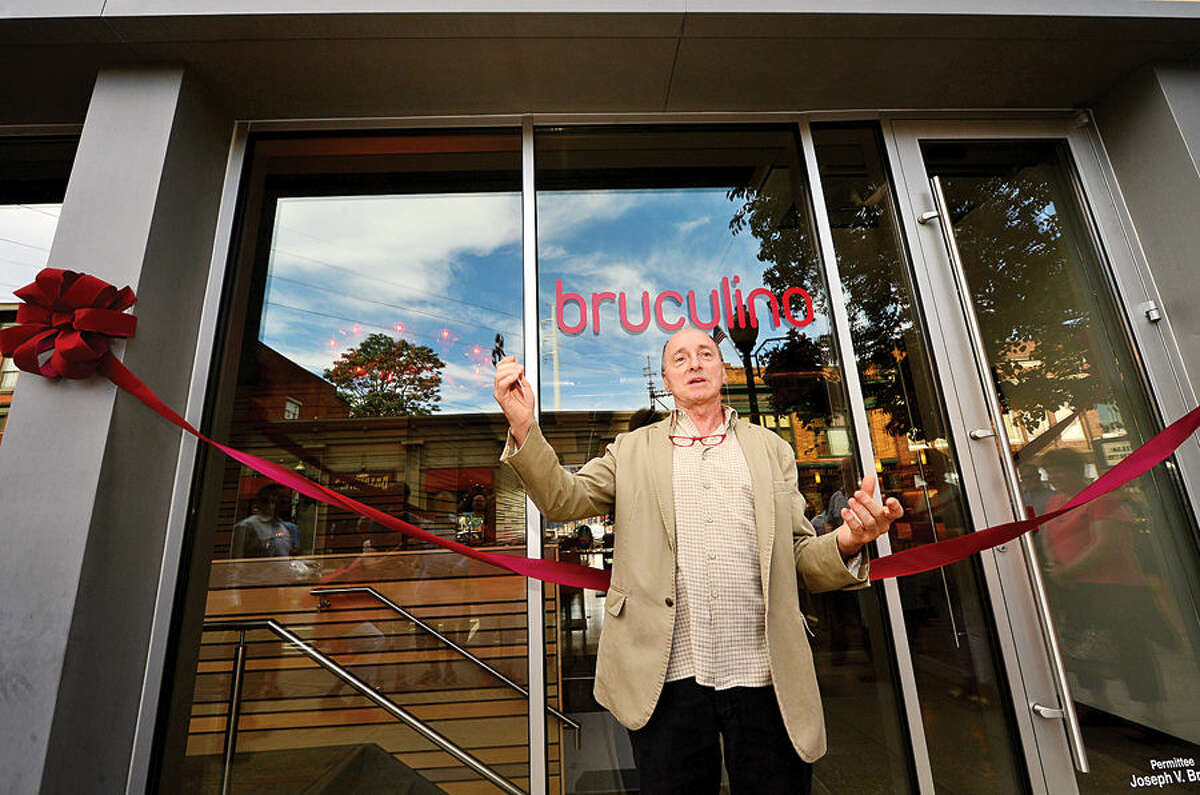 Hour photo / Erik Trautmann Former owner of Pasta Nostra, Joseph Brunio, holds a soft opening for his new italian restaurant, bruculino, at 20 N Main St in Norwalk Saturday