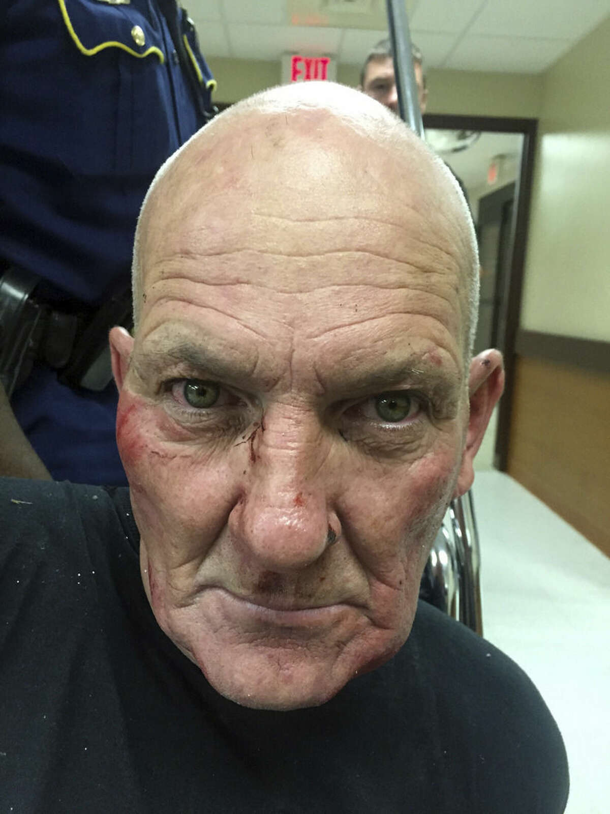 This photo released by the Louisiana State Police shows Kevin Daigle, 54, of Lake Charles, La. A Louisiana state trooper was shot in the head and critically injured Sunday, Aug. 23, 2015, during a struggle with a man whose pickup truck had run into a ditch after being reported as driving erratically, Louisiana State Police said. Col. Michael Edmonson, head of state police, said the arrested man. Col. Mike Edmonson, head of the Louisiana State Police, says 43-year-old Senior Trooper Steven Vincent died Monday, Aug. 24, 2015, at a hospital in Lake Charles, La. (Louisiana State Police via AP)